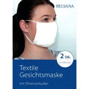 BELSANA Textile Gesichtsmaske mit Ohrenschlaufen